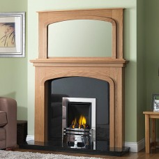 GB Mantels Pendle Celtic Oak Fireplace Suite