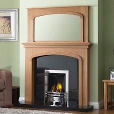 GB Mantels Pendle Celtic Oak Fireplace Suite