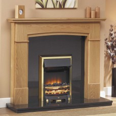 GB Mantels Perth Oak Fireplace Suite
