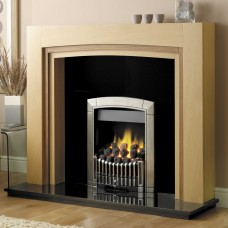 GB Mantels Romford Clear Oak/American Walnut Fireplace Suite