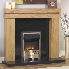 GB Mantels Ross Clear Oak/American Walnut Fireplace Suite
