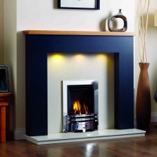GB Mantels Grantham Oak Fireplace Suite