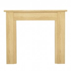 "Be Modern Hainsworth 44"" Natural Oak Veneer Fireplace Suite"