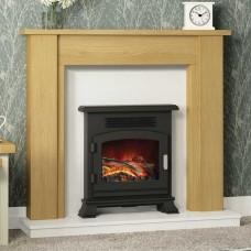 "Be Modern Hainsworth 44"" Natural Oak Veneer Fireplace Suite"