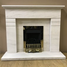 "F4L Hickleton 49"" Limestone Fireplace Suite"
