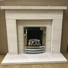 "F4L Wentworth 52"" Limestone Fireplace Suite"