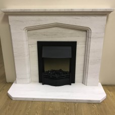 "F4L Cusworth 49"" Limestone Fireplace Suite"