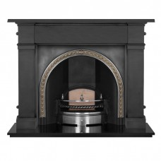 "Carron Somerset 59"" Cast Iron Fireplace with Kensington Arch"