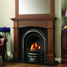 GB Mantels Lancashire Oak Fireplace Suite