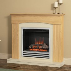 Be Modern Linmere Oak 44'' Electric Fireplace Suite