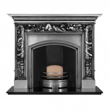 "Carron Mayfair 64"" Cast Iron Fireplace With London Plate Insert (Wide Opening)"