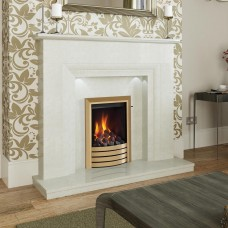 "Elgin & Hall Milena 50"" Manila Micro Marble Surround"