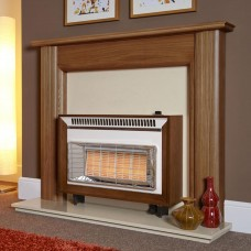 Flavel Misermatic Medium Oak High Efficiency Gas Fire