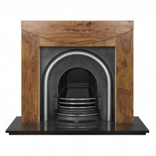 Carron New Hampshire Sheesham Fire Surround With Celtic Cast Iron Arch