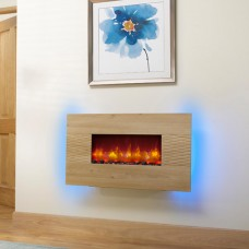 Orlando oak led electric fire