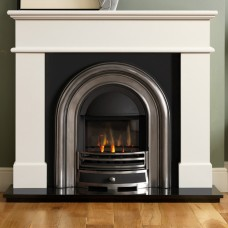 Gallery Lincoln Wood Fireplace Includes Lytton Cast Iron Arch