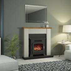"""Be Modern Ravensdale 42"""" Fireplace Stove Suite"""
