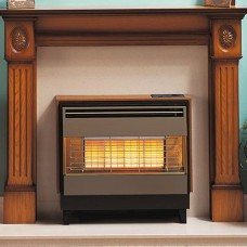 Robinson Willey Firegem Visa Highline Deluxe Teak Radiant Gas Fire