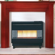 Robinson Willey Firegem Visa Highline Black Radiant Gas Fire
