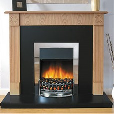 Robinson Willey Wycombe Natural Oak Electric Fire Suite