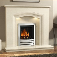 "Elgin & Hall Rosalina 50"" Manila Micro Marble Surround"