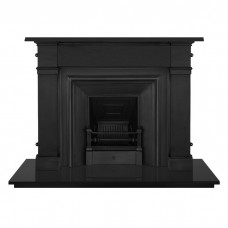 "Carron Somerset 59"" Cast Iron Fireplace With Royal Inset"