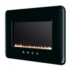 Smeg Retro Black Flueless Gas Fire