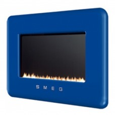Smeg Retro Dark Blue Flueless Gas Fire