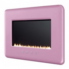 Smeg Retro Pink Flueless Gas Fire