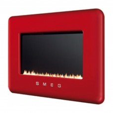 Smeg Retro Red Flueless Gas Fire