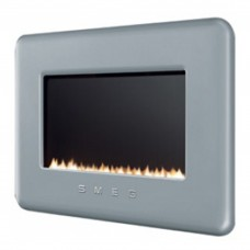 Smeg Retro Silver Flueless Gas Fire