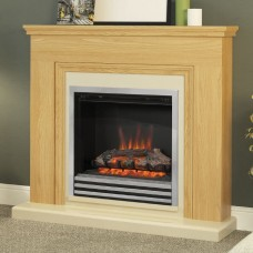 "Be Modern Stanton Oak 46"" Electric Fireplace Suite"