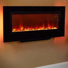 Suncrest Santos 38'' Wall Mounted Electric Fireplace
