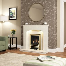 Be Modern Tasmin Micro Marble Fireplace Suite