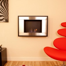 The Naked Flame Art Deco Bio Ethanol Wall Mounted Fire