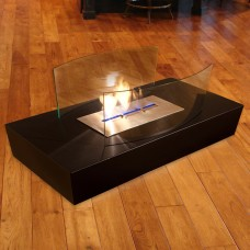 The Naked Flame Curve Bio Ethanol Freestanding Fire