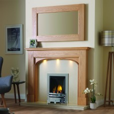 GB Mantels Ullswater Oak Fireplace Suite