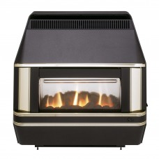 Valor Heartbeat Black & Gold Gas Fire