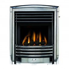 Valor Petrus Homeflame Silver Chrome Gas Fire