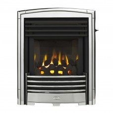 Valor Petrus Slimline Homeflame Silver Chrome Gas Fire