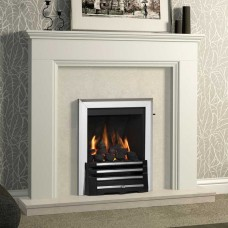 "Be Modern Westerdale 48"" Soft White Fireplace Suite"