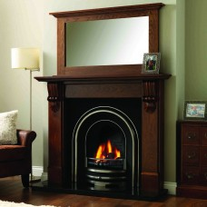 GB Mantels Winchester Oak Fireplace Suite