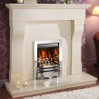Crystal Fires Gem Open Fronted Inset Gas Fire Chrome