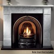 "Gallery Brompton 56"" Carrara Marble Fireplace Surround"