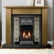 Gallery Lincoln 54'' Wood Fireplace With Tulip Cast Insert