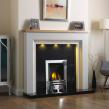 GB Mantels Ilford Mist &Clear Oak Fireplace
