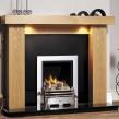 GB Mantels Kensington Clear Oak Fireplace Suite