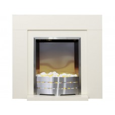 Fireplaces 4 Life Albany Cream 30'' Electric Fireplace Suite