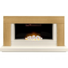 Fireplaces 4 Life Carrera 48'' Oak Veneer Electric Fireplace Suite