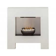 Fireplaces 4 Life Cubist White 36'' Electric Fireplace Suite